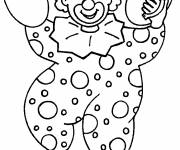 Free coloring and drawings The musician clown Coloring page