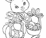Coloring pages A beautiful Easter Bunny