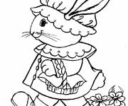 Coloring pages A funny Easter Bunny