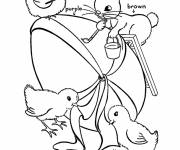 Coloring pages Animals add colors to the Easter egg