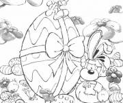 Coloring pages Cartoon easter egg
