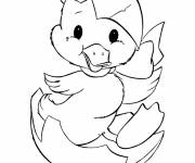Coloring pages Chick comes out of its Egg
