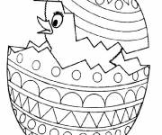 Coloring pages Chick emerging from Easter egg