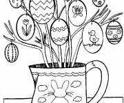 Coloring pages Decorated easter eggs