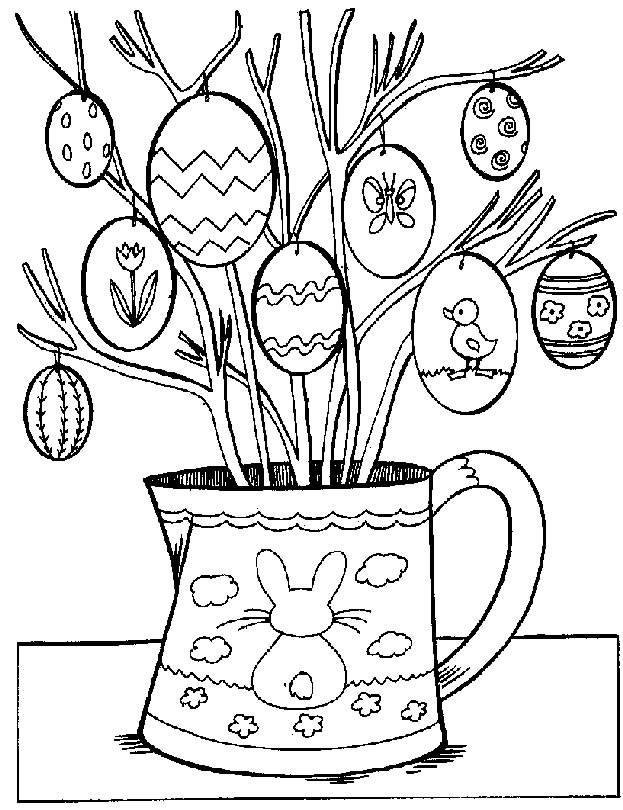 Free coloring and drawings Decorated easter eggs Coloring page