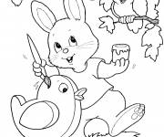 Coloring pages Easter Animals Image