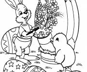 Coloring pages Easter animals on computer