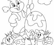 Coloring pages Easter animals to color