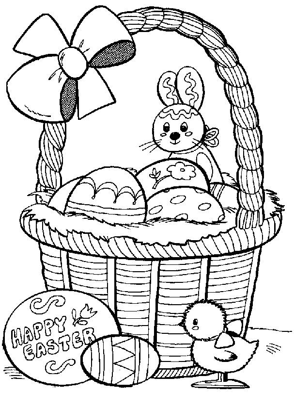 Free coloring and drawings Easter Bunny Coloring page