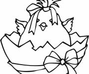 Coloring pages Easter chick