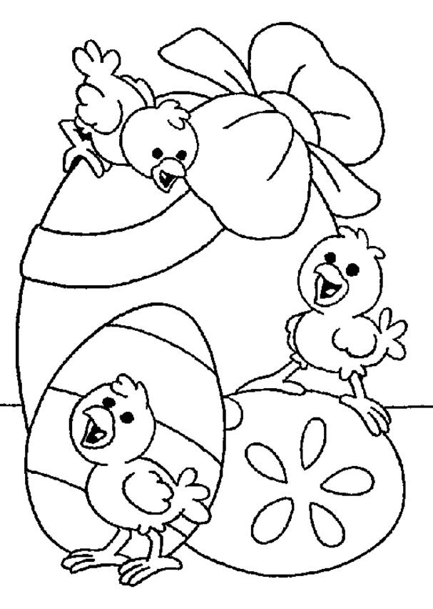 Free coloring and drawings Easter chick to color Coloring page