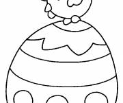 Coloring pages Easter easy to color