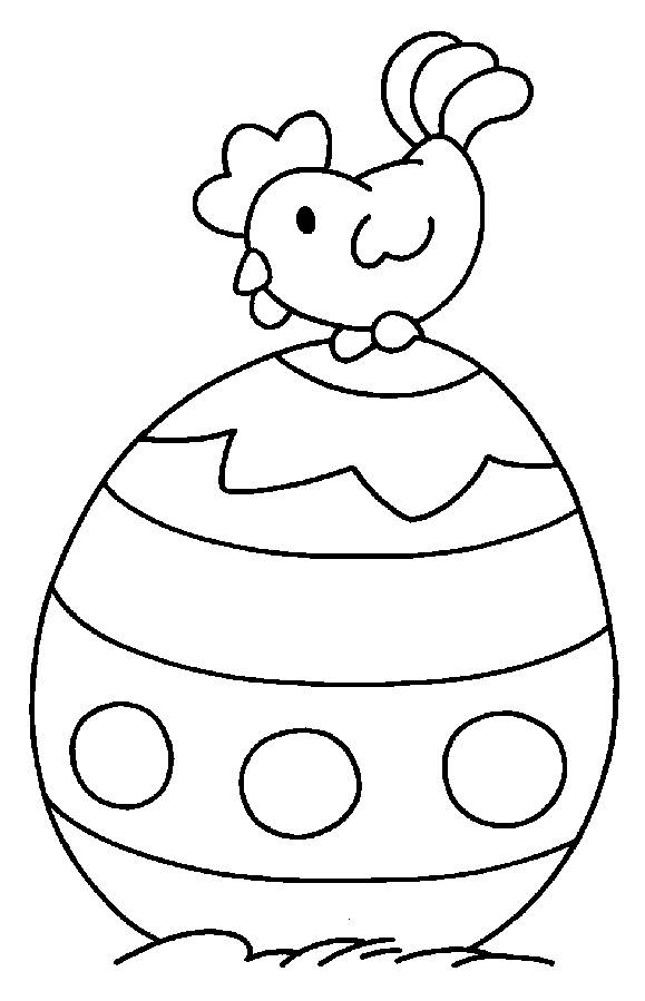 Free coloring and drawings Easter easy to color Coloring page