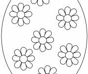 Coloring pages Easter egg decorated with flowers