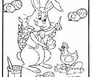 Coloring pages Easter egg painting