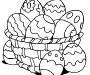Coloring pages Easter egg to be completed