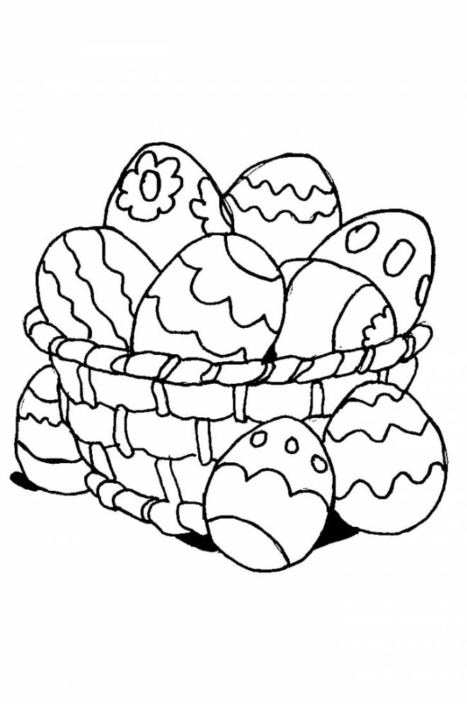 Free coloring and drawings Easter egg to be completed Coloring page