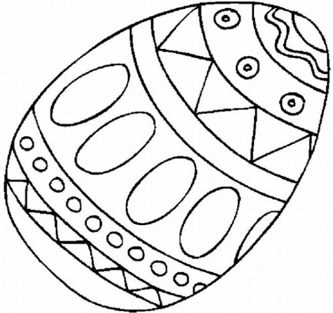 Free coloring and drawings Easter eggs Coloring page