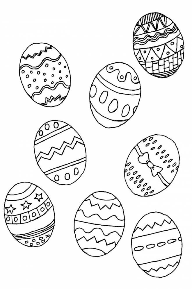 Free coloring and drawings Easter eggs to download Coloring page