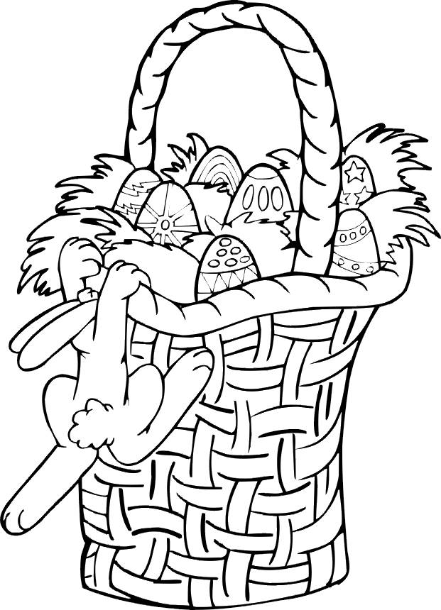 Free coloring and drawings Easter for children Coloring page