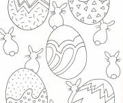 Coloring pages Easter for the little ones