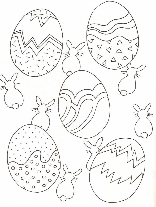 Free coloring and drawings Easter for the little ones Coloring page