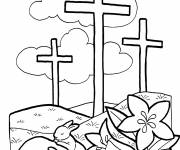 Coloring pages Easter illustration