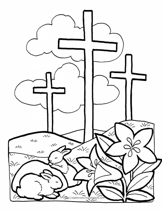 Free coloring and drawings Easter illustration Coloring page