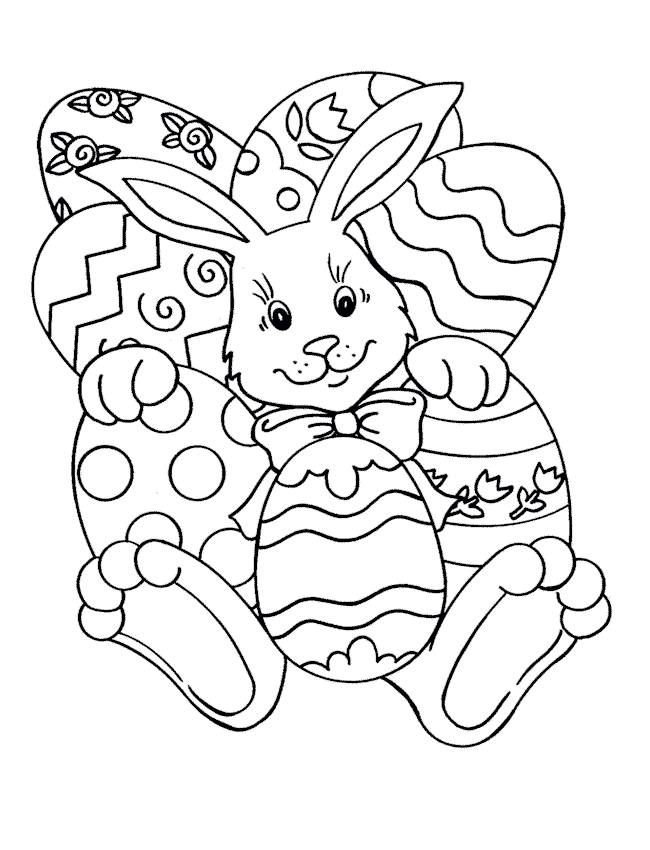 Free coloring and drawings Easter Online Coloring page