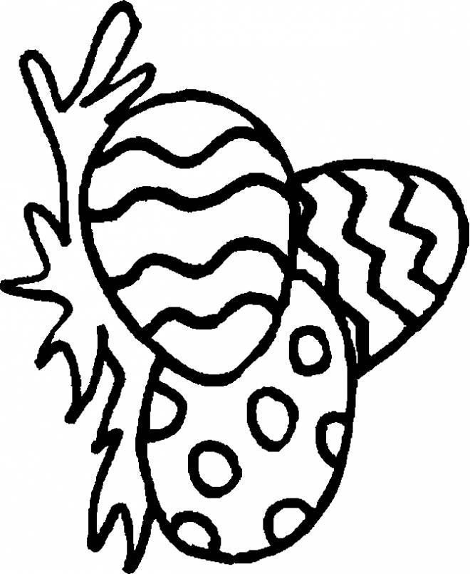 Free coloring and drawings Easter symbol egg Coloring page