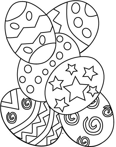 Free coloring and drawings Easy easter Coloring page