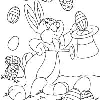 Free coloring and drawings Easy Easter Bunny Coloring page
