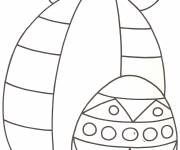Coloring pages Easy Easter egg in pencil