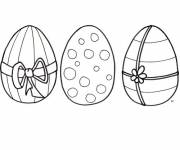 Coloring pages Fantastic decoration of Easter eggs