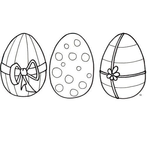 Free coloring and drawings Fantastic decoration of Easter eggs Coloring page