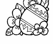 Coloring pages Flowers for Easter