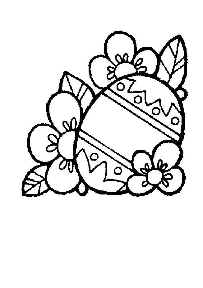 Free coloring and drawings Flowers for Easter Coloring page