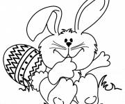 Coloring pages Funny easter bunny