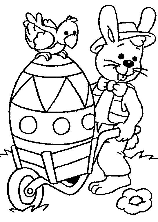 Free coloring and drawings Giant Easter Bunny Coloring page