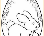 Coloring pages Happy Easter on an Egg