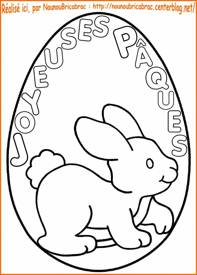 Free coloring and drawings Happy Easter on an Egg Coloring page