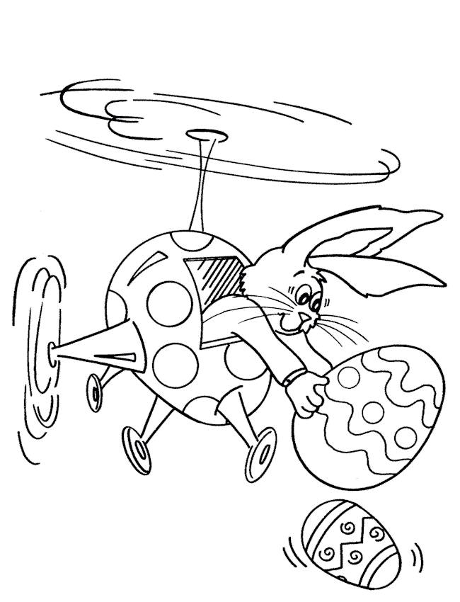 Free coloring and drawings Humorous Easter Bunny Coloring page