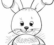 Coloring pages Magic easter bunny