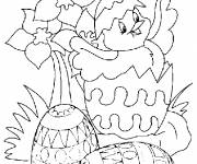Coloring pages Maternal Easter chick