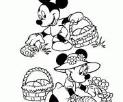 Coloring pages Mickey mouse easter egg collection