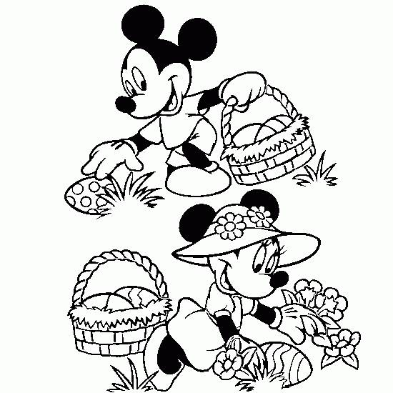Free coloring and drawings Mickey mouse easter egg collection Coloring page