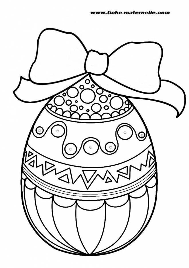 Free coloring and drawings Original Easter egg Coloring page