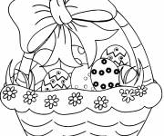 Coloring pages Pretty Easter Egg Basket