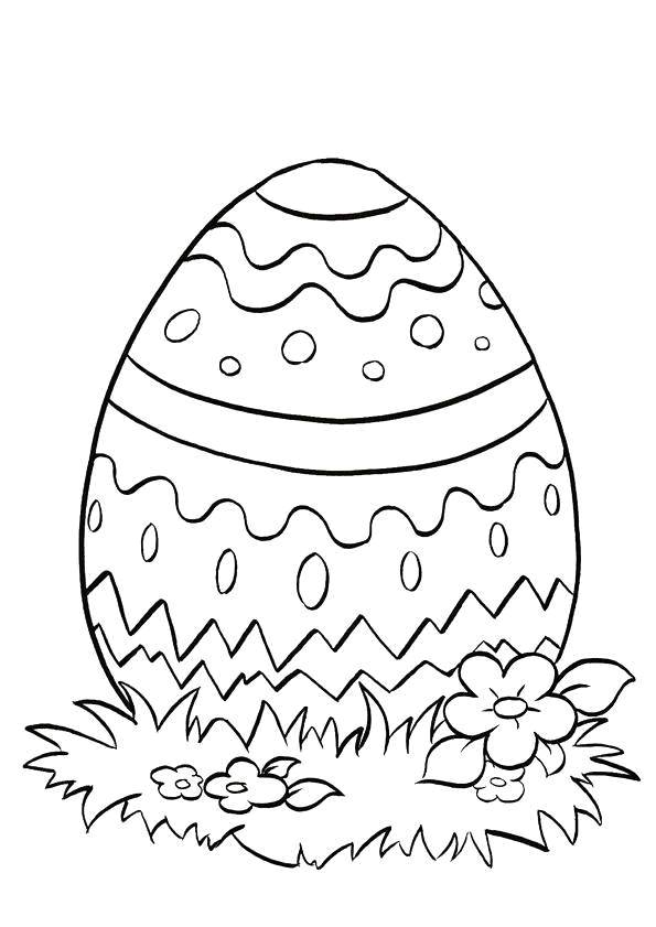 Free coloring and drawings Simple Easter egg Coloring page