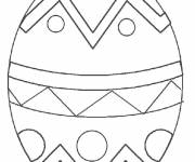 Free coloring and drawings Stylized easter egg Coloring page